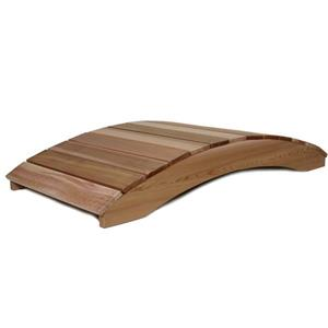 All Things Cedar 6-ft Western Red Cedar Garden Bridge