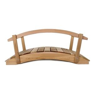 All Things Cedar 3-ft Western Red Cedar Garden Bridge with Rails