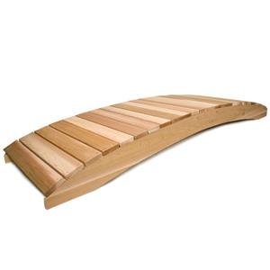 All Things Cedar 12-ft Western Red Cedar Garden Bridge