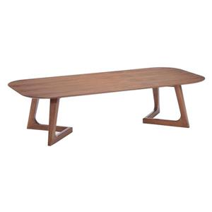 Zuo Modern Park West 59-in x 26.8-in x 15-in With Brown Wood Veneer Finish Rectangular Coffee Table