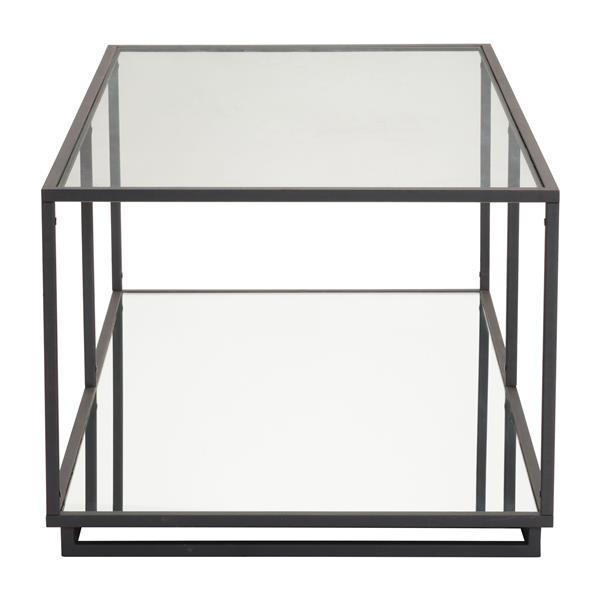 Table basse Kure de Zuo Modern, 48 po x 24,4 po x 18 po, structure en acier noir