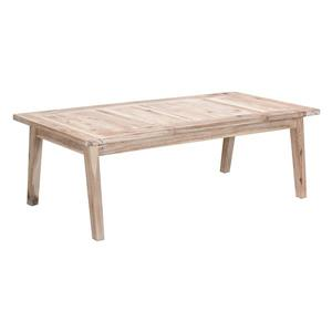 Zuo Modern South Port 47.2-in x 23.6-in x 15.9-in In White Wash Acacia Wood Finish Outdoor Rectangular Coffee Table