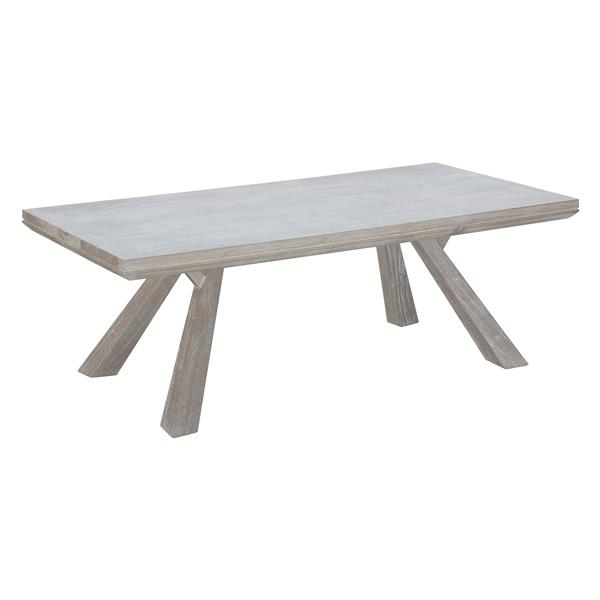 Zuo Modern Beaumont 52-in x 26-in x 18.1-in Grey Acacia Wood Rectangular Coffee Table