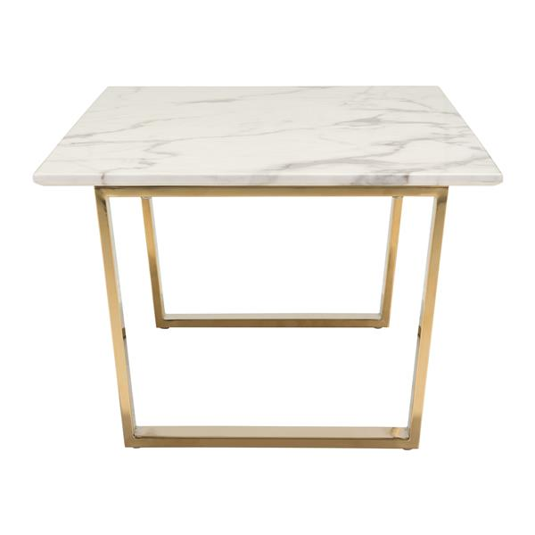 Zuo Modern Atlas 47.2-in x 23.6-in x 15.7-in Off-White Faux Marble Finish Coffee Table
