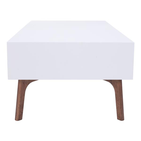 Zuo Modern Padre Coffee Table - 2 Drawers - 47-in x 23.6-in x 15.7-in - White