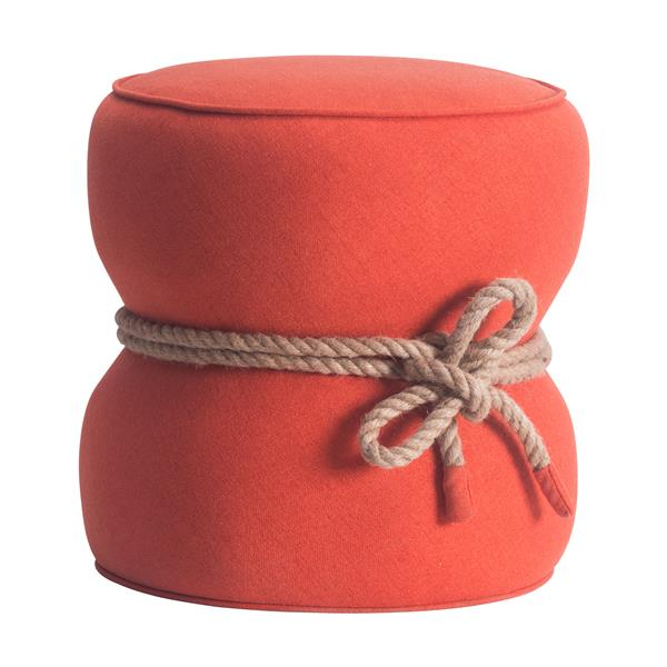 Zuo Modern Tubby Ottoman - 18.9-in x 18.5-in - Orange