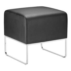 Banc en simili-cuir Plush de Zuo Modern, 18 po x 18,5 po x 18 po, noir