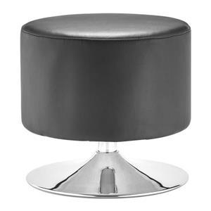 Tabouret Plump de Zuo Modern, 18 po x 18,6 po, noir