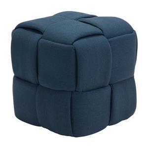 Zuo Modern Checks Bench - 19.7-in x 19.7-in - Navy Blue