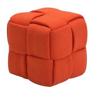 Zuo Modern Checks Bench - 19.7-in x 19.7-in - Orange
