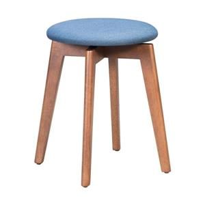 Zuo Modern 14.4-in x 14.4-in x 19.3-in Blue Round Billy Stool (Set of 2)