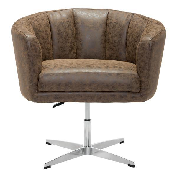 Zuo Modern Wilshire Occasional Chair 32.1 x 26 x 31.5-in Coffee
