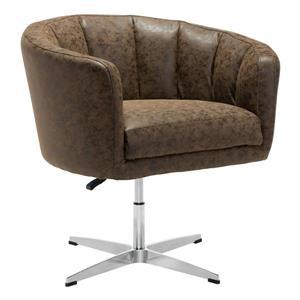 Zuo Modern Wilshire Arm Chair - 32.1-in x 26-in x 31.5-in - Coffee Brown