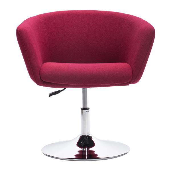 Zuo Modern Umea 26-in x 25-in x 29-in Carnelian Red Arm Chair