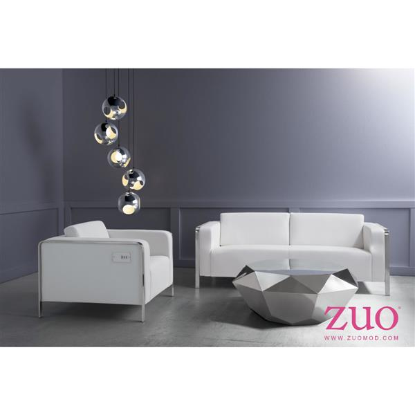 Zuo Modern Thor 34.6 x 33.5 x 28-in White Arm Chair