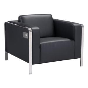 Zuo Modern Thor Arm Chair - 34.6-in x 33.5-in x 28-in - Black