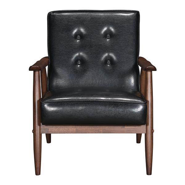 Fauteuil d'appoint Rocky de Zuo Modern, 27,2 po x 32,1 po, noir