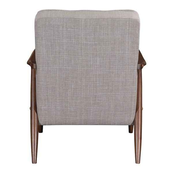 Zuo Modern Rocky Arm Chair - 27.2-in x 32.1-in - Beige