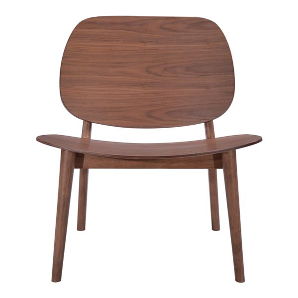 Zuo Modern Priest 25.8-in x 23-in x 28.5-in Walnut Lounge Chair (Set of 2)