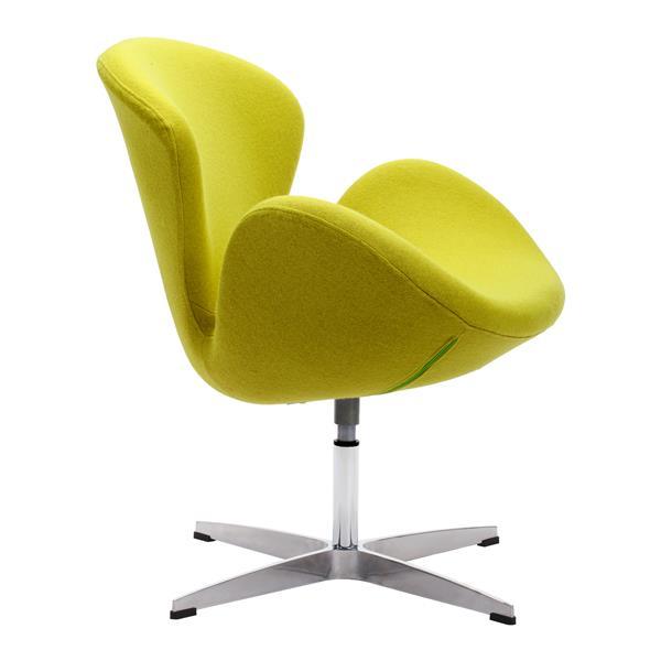 Zuo Modern Pori 28-in x 26.8-in x 30-in Pistachio Green Arm Chair