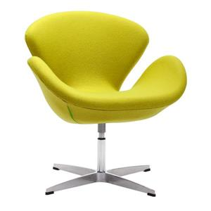 Zuo Modern Pori 28-in x 26.8-in x 30-in Pistachio Green Arm Chair