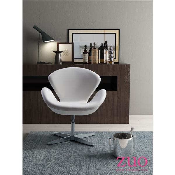 Zuo Modern Pori Accent Chair - 28-in x 30-in - White