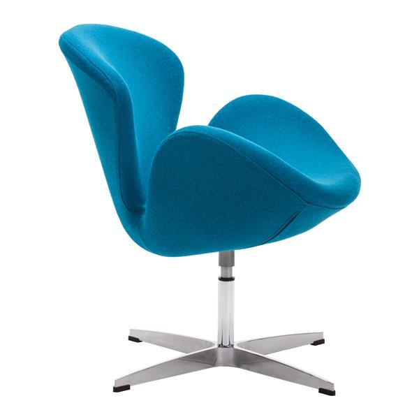 Chaise d'appoint Pori de Zuo Modern, 28 po x 30 po, bleu