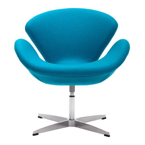 Zuo Modern Pori 28-in x 26.8-in x 30-in Island Blue Arm Chair