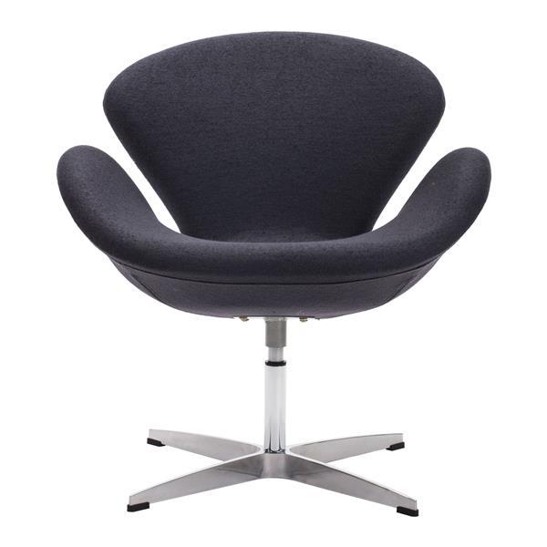 Zuo Modern Pori 28-in x 26.8-in x 30-in Iron Gray Arm Chair