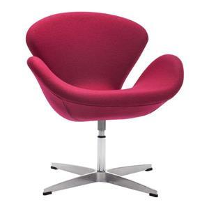Zuo Modern Pori 28-in x 26.8-in x 30-in Carnelian Red Arm Chair