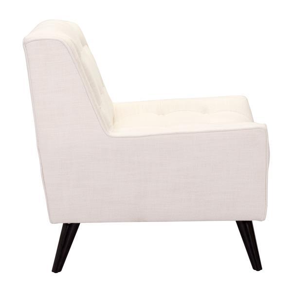 Zuo Modern Nantucket 36-in x 34.3-in x 34.3-in Beige Arm Chair