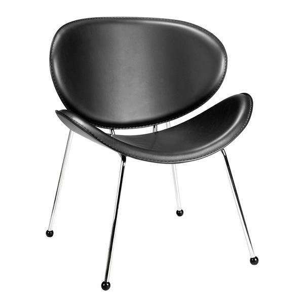 Zuo Modern Match Chair - 24-in x 25-in x 29-in - Black - Set of 2