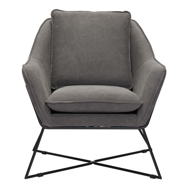 Zuo Modern Lincoln 29.9-in  x 31.9-in  x 35-in Gray Lounge Chair