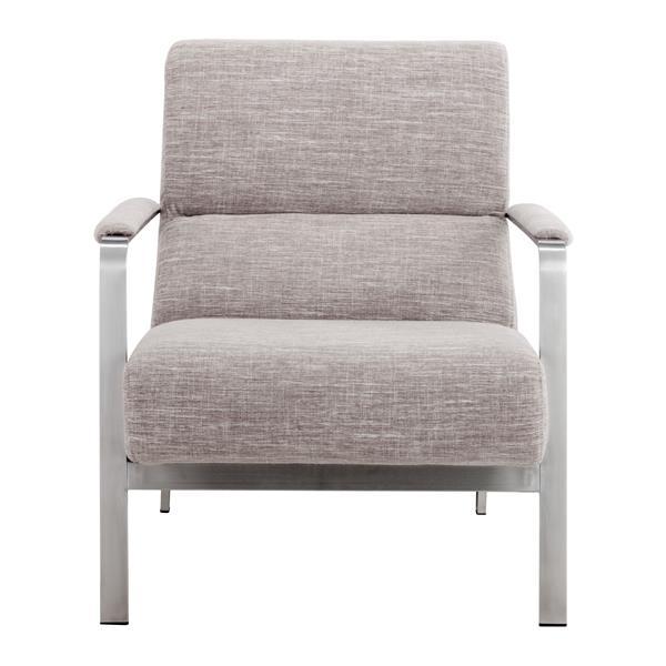 Zuo Modern 26-in x 31.5-in x 33.5-in Wheat Jonkoping Arm Chair