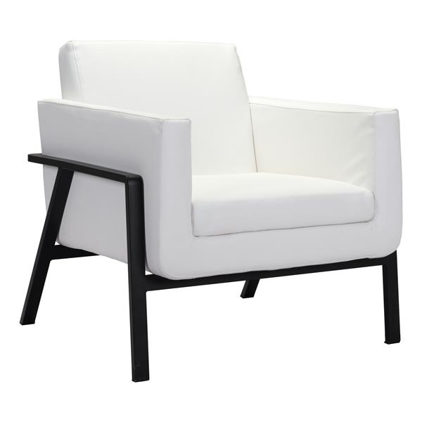 Zuo Modern 31.1-in x 29.7-in x 32.7-in White Homestead Lounge Chair