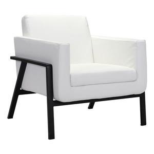Fauteuil d'appoint Homestead de Zuo Modern , 31,1 po x 29,7 po, blanc