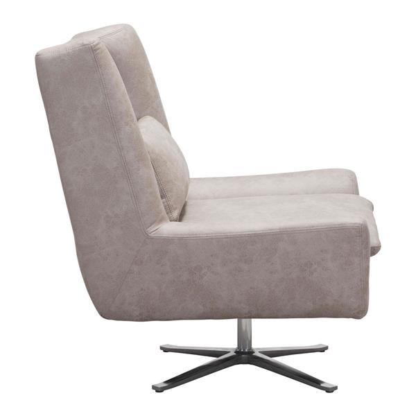 Zuo Modern Enzo 34.6-in x 32.3-in x 35.4-in Distressed Gray Occasional Chair