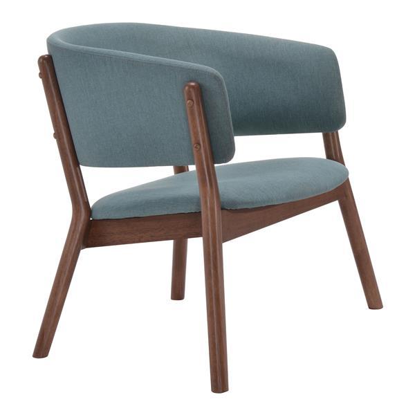 Zuo Modern Chapel 32.9-in x 23.4-in x 27-in Blue Lounge Chair (Set of 2)