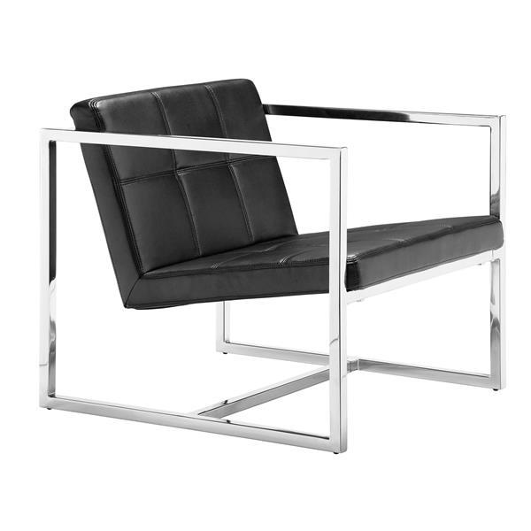 Chaise d'appoint Carbon de Zuo Modern, 25 po x 28,3 po, noir