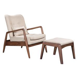 Bully Lounge Chair & Ottoman - 30.3