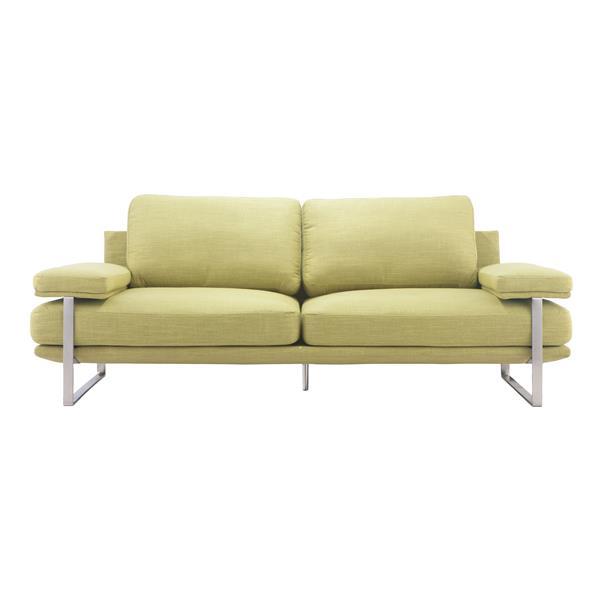Zuo Modern Jonkoping 86.6-in x 37.4-in x 33.5-in Green Sofa