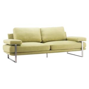 Zuo Modern Jonkoping 86.6-in x 37.4-in x 33.5-in Green Sofa