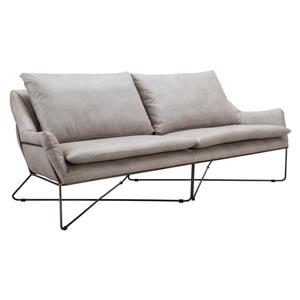 Zuo Modern Finn 86.6-in x 34.6-in x33.9-in Gray Faux Leather Sofa