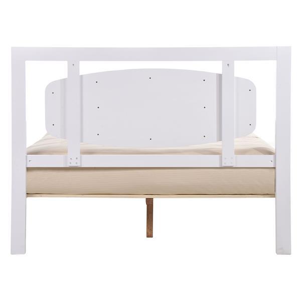 Zuo Modern Seattle King Bed - 62.8-in x 86.4-in x 47-in - White/Walnut