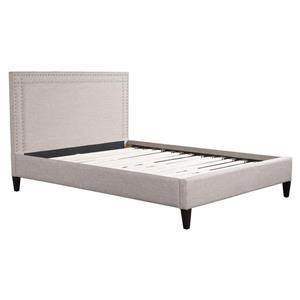 Zuo Modern Renaissance Dove Grey 63.4-in x 87-in x 46.9-in Queen Bed