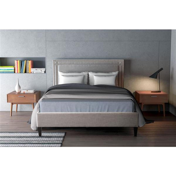 Zuo Modern Renaissance Dove Grey 79.1-in x 87-in x 46.9-in King Bed
