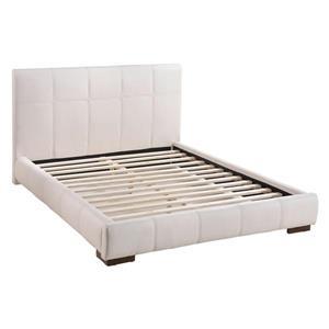 Base de lit collection Amelie de Zuo Modern, grand lit, 67,7 po x 88,6 po, blanc