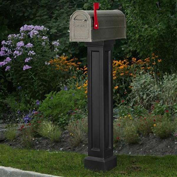 Mayne Accent 1-ft Black In-Ground Bradford Mailbox