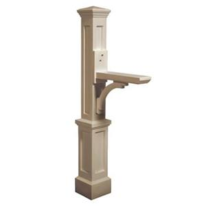 Mayne Accent 2.08-ft Beige Newport In-Ground Mailbox