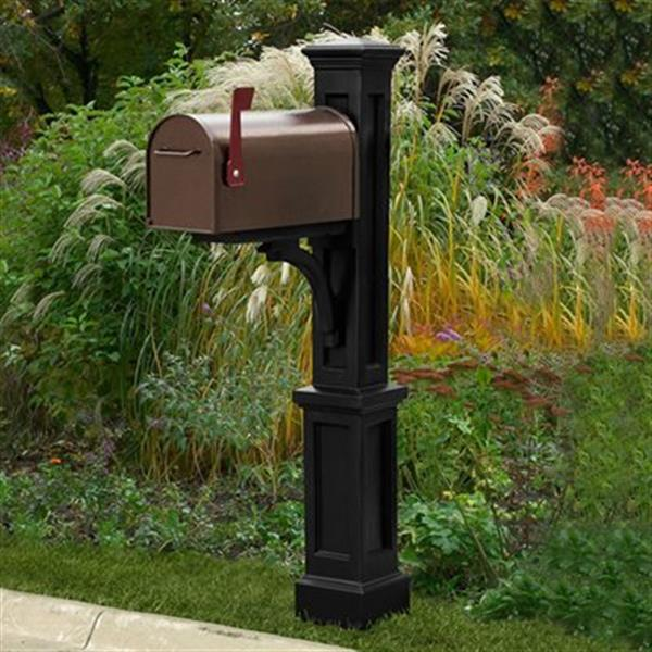 Mayne Newport Plus Mail Post 2.08-ft - Black